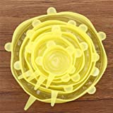 1 Piece Food Silicone six-Piece Fresh-Keeping Cover Stretched 6-Piece Set Universal Bowl lid