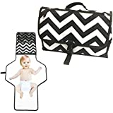 Diaper Clutch with Extra Long Diaper Changing Pad for...