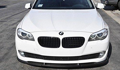 2011-15 F10 5 Series HM Style Carbon Fiber Front Lip Splitter Spoiler for BMW F10 523i 535i 5-Series [fit OEM Bumper only] ()