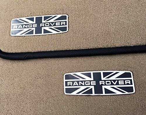 kit-car Range Rover Style - Metal Emblems for Floor Mats - Badge Logo Union Jack UK Flag - 2 pcs