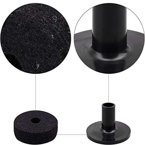 elegantstunning Cymbal Stand Felt Washer Plastic Drum Cymbal Stand Sleeves Replacement Black (10pcs) by elegantstunning (Image #5)