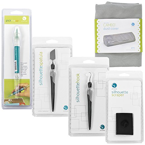 (Silhouette Cameo Digital Craft Cutter Dust Cover and 4 Tools)