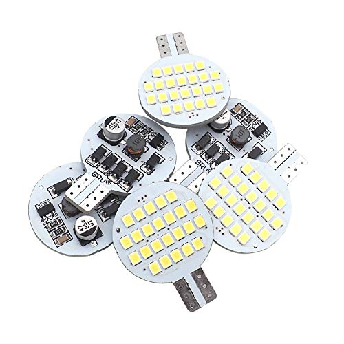 GRV T10 921 194 24-2835 SMD LED Bulb lamp Super Bright AC/DC 12V -28V Cool White(2nd Generation) Pack of -