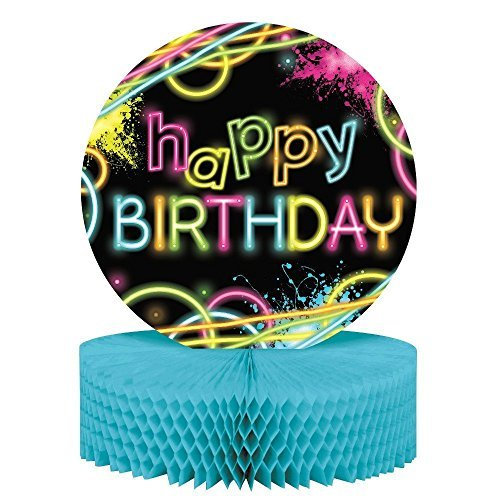 Birthday Centerpiece Table Party (Creative Converting Glow Party Birthday Centerpiece - 12 (Two-Pack))