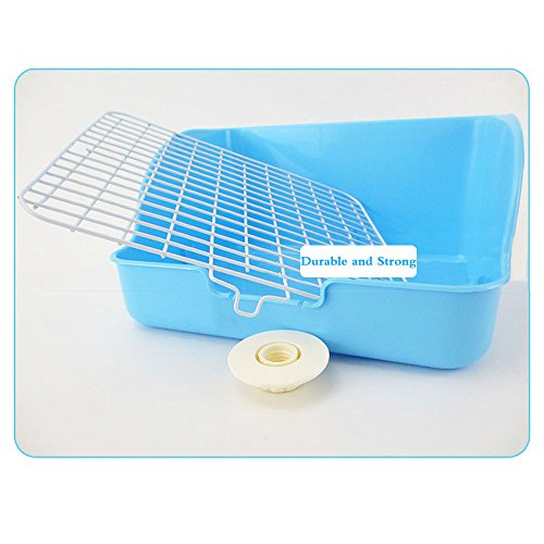 HongYH Pet Small Rat Toilet, Square Potty Trainer Corner Litter Bedding Box Pet Pan for Small Animal/rabbit/guinea Pig/galesaur/ferret(Grey) by HongYH (Image #2)