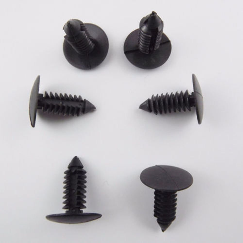 MongKok 100 Pcs Plastic Rivet Fixings 8 mm Diameter Hole for Car Bumper Fender