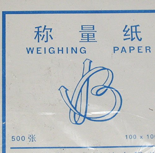 Non-Absorbent, Non-Stick Cellulose Weighing Paper, 500 Sheet, 4x4 Inch, for Scale/Balance Dish by CB