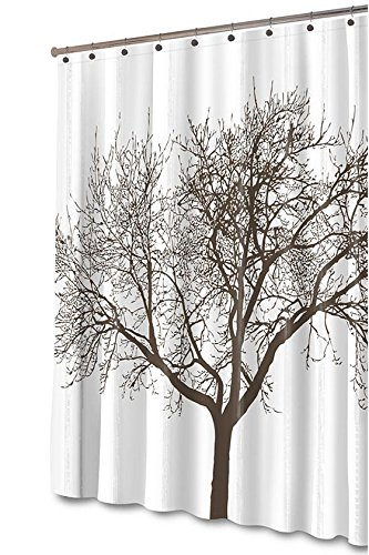 Brown Tree Shower Curtain 72X70 BROWN