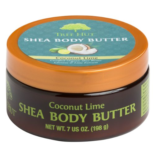 Tree Hut Shea Body Butter, Coconut Lime, 7-Ounce (Pack of 3)