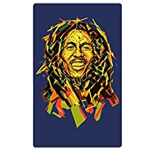 Bob Marley Oversized Cool Graphic Travel & Beach Towel - Quick Dry, Lightweight, Absorbent Design For Men And Women