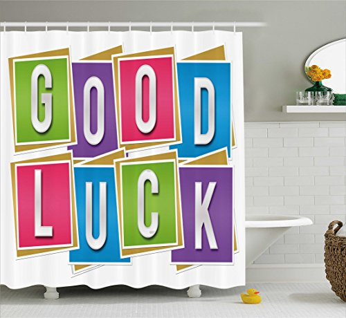 Going Away Party Decorations Shower Curtain by Ambesonne, Co