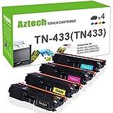 #10: Aztech TN433 High Yield Toner Cartridge Compatible for Brother HL-L8360CDW HL-L8360CDWT HL-L8260CDW MFCL8900CDW MFCL8610CDW MFCL9570CDW Color Laser All-in-One TN433 TN431 (MFC-L8900CDW MFC-L8610CDW)