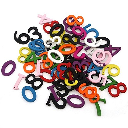 cs 22mm Mixed Candy Color Number Wooden Buttons Fit Sewing and Scrapbook sewing accessories (Dmc Scissor Case)