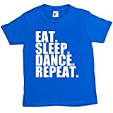 Fancy A Snuggle Eat. Sleep. Dance. Repeat. Kids Boys / Girls T-Shirt Royal Blue 12-14 Year Old
