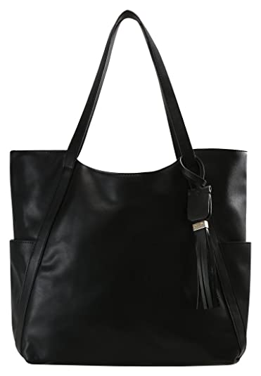 8c5da016c8a5 Anna Field Shopper Bag for Women - Large Shoulder Designer Handbag - black