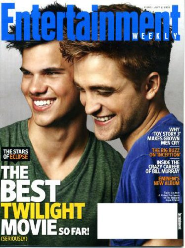 (Entertainment Weekly July 2 2010 Twilight Eclipse Cast on Cover (Eclipse: The Best Twilight Movie So Far), Why Toy Story 3 Makes Grown Men Cry, Big Buzz of Inception, Bill Murray, Eminem's New Album, Kelly Rowland)