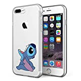 LitechTM Case for Apple iPhone 7 Plus/iPhone 8 Plus [Flexfit] Premium Clear Scratch-Resistant Cute Creative Artistic Design [Wireless Charging Compatible] (Stitch 2)