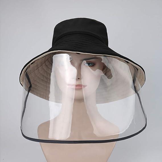 FEOYA Fischerhut mit Abnehmbarem Gesichtsschutz 2-in-1 Schutzhut f/ür Damen und Herren