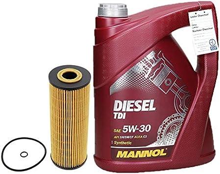 Motorenöl Diesel Tdi 5w 30 5l Liter Ölfilter Auto