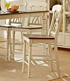 Ohana Counter Height Chair [Set of 2] Finish: Antique White For Sale