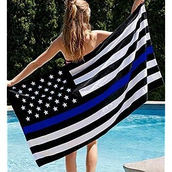 Amazon Com Duework 63 X 63 Inch Round American Flag Tassels Beach Towel Yoga Mat
