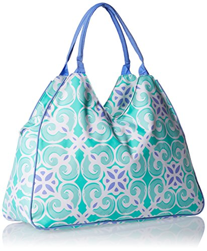 Amazon.com | Water Resistant Beach Bag With Inside Lining And Top ...