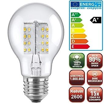 El elegante + clara bombilla LED de bajo consumo (sólo 4,1 Watt,