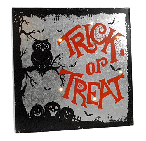 Trick or Treat Light Up Halloween Wall Sign