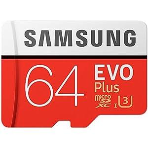 Samsung 64GB MicroSDXC EVO Plus Memory Card w/ Adapter, (MB-MC64GA/EU)