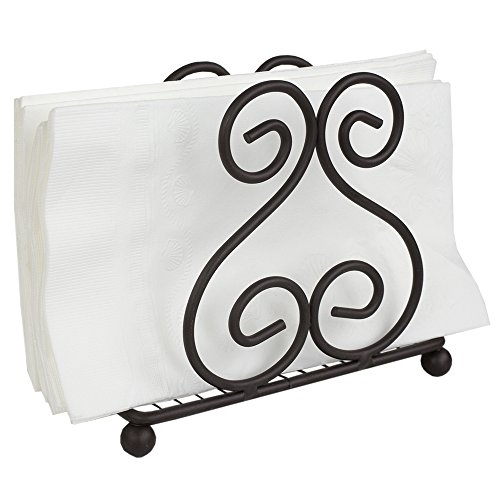 Wrought Iron Napkin Holder - Home Basics Scroll Collection Napkin Holder