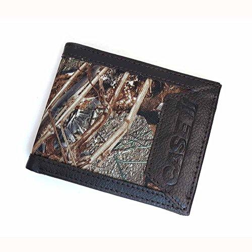Trimmed Box (Mossy Oak Camo Billfold BROWN Leather Trimmed Case IH Logo Wallet)