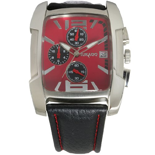 U7117eb Reloj NegroAmazon De HombrePielColor Lukado Pulsera N0m8nw