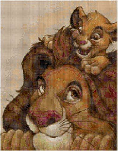 Disney The Lion King Counted Cross Stitch Pattern