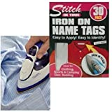 IRON ON NAME TAGS SCHOOL UNIFORM CLOTHING IDENTITY TAPE STICKERS LAUNDRY LABELS by Guaranteed4Less