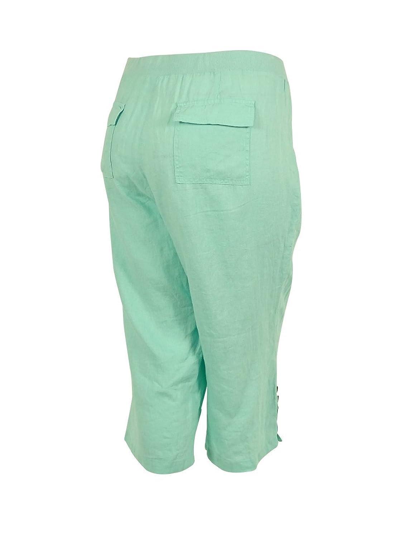 Jm Collection Plus Size Clear Mint Capri Pants