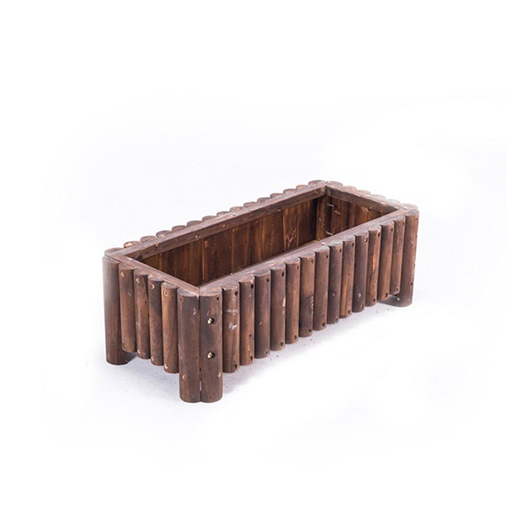 YX SHOP マルチスタイル長方形ソリッドウッドアウトドアフラワーボックスフラワーシェルフ、防腐木、バルコニー野菜ポット * (サイズ さいず : 100x50x50cm) B07GP1J24L 100x50x50cm  100x50x50cm