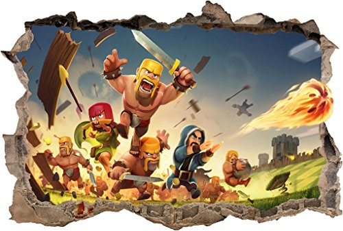 Clash Royale Smashed Wall Decal Wall Sticker Home Decor Art Mural H961  Huge