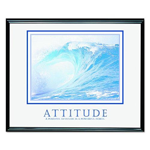 ADVANTUS Framed Motivational Print, Attitude, 30 x 24 Inches, Black Frame (Chase Framed Art)