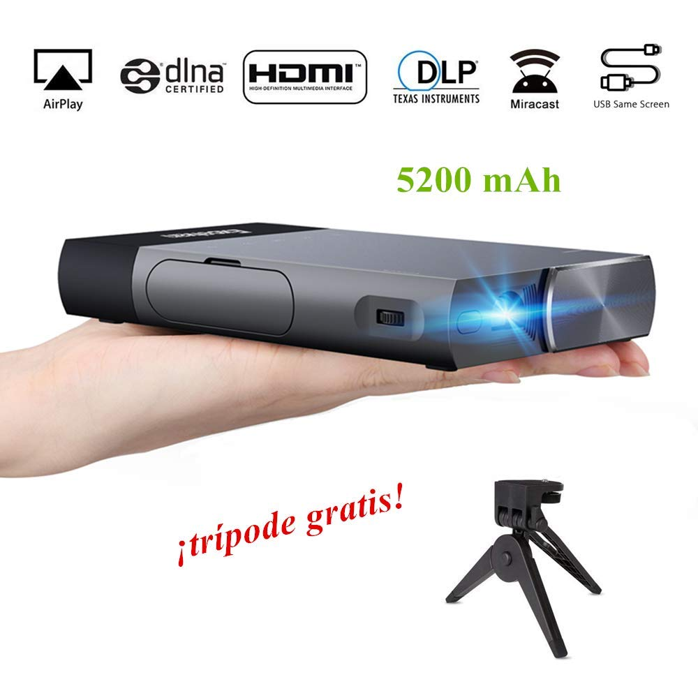 Mini Proyector Excelvan S1 DLP Proyector Portátil LED con HDMI para Android / iPhone/ PS4/ TV Box Videoproyector 1080P Full HD Ideal para Ver ...