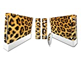Vinyl Decal Skin/stickers Wrap for Nintendo Wii Console+ Remote Controllers-Leopard Animal