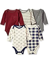 Long Sleeve Bodysuits, 5 Pack