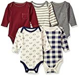 #6: Hudson Baby Baby Girls' Long Sleeve Bodysuit 5 Pack