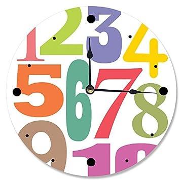Números Tipografía reloj de pared