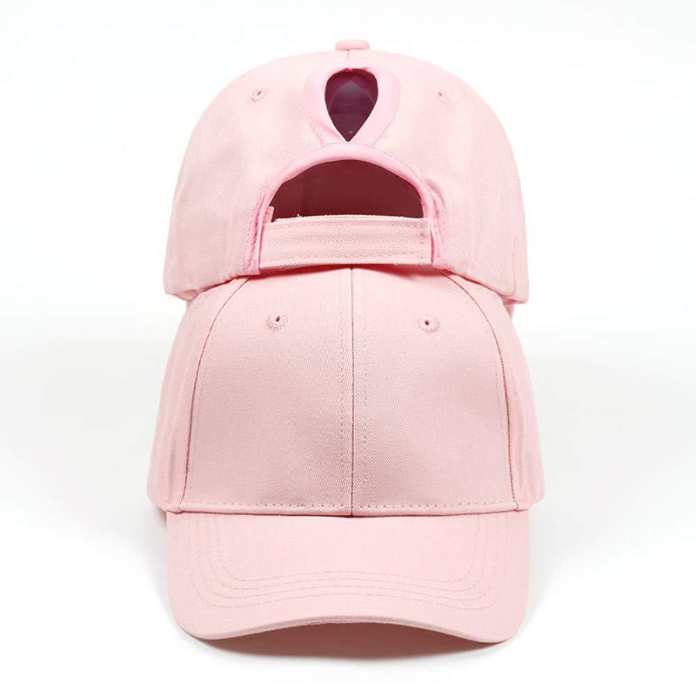 Chlally 2019 New Summer Mesh Cap Ponytail Baseball Caps Women Fashion Snapback Caps for Women&Man Sport Cap Unisex Bone,Pink