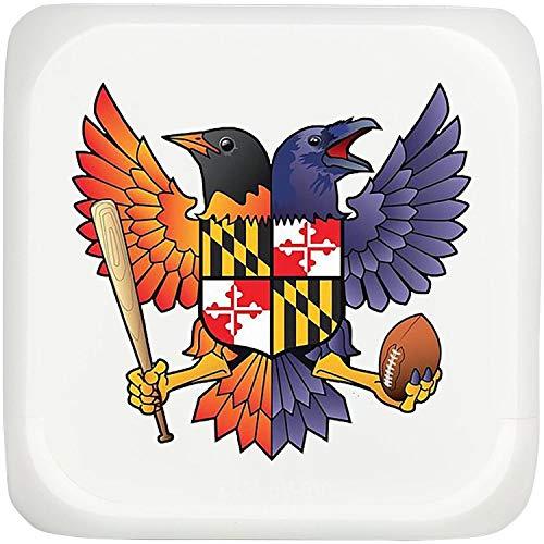 - UYOYORRL Birdland Baltimore Raven and Oriole Maryland Travel Alarm Clock Girls Alarm Clock Smart Nightlight Loudest Alarm Clock
