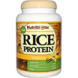 NutriBiotic, Raw Rice Protein, Vanilla, 1 lb 5 oz (600 g) - 3PC