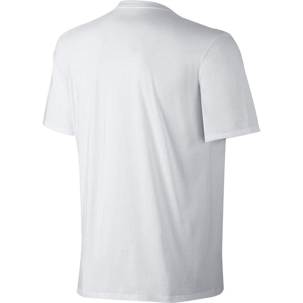 06e0d98d NIKE Sportswear Men's Hangtag Swoosh Tee, White/Black, Large ...