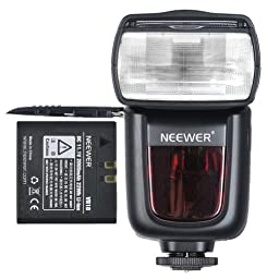 NeewerLI-ION BATTERY TT860 Flash Speedlite iTTL Camera Flash for Nikon D4 D4S D3X D810 D800E D800 D610 D600 D7100 D7000 D5300 D5200 D5100 D3200 D3100 and other Nikon Ditial SLR Cameras, 650 Full Power POPS with single Li-ion battery! 1.5s Recycle time!(Wo