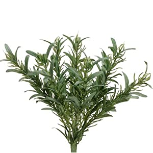 "9"" Rosemary Herb Silk Plant -Green (Pack of 12) 15"