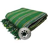 Tartanista Men's Irish Tartan/Plaid Kilt Pipers Plaid With Stone Brooch